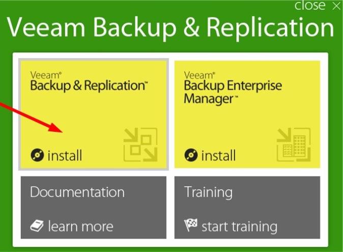 Запуск мастера установки Veeam Backup & Replication