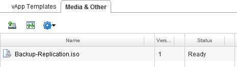 Добавление ISO-образа в каталог организации vCloud Director